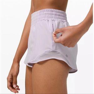 Lululemon Hotty Hot Hi Rise Gym Shorts Lavender